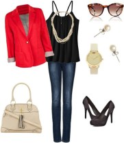 black-tank-jeans-outfit-3-red-blazer-work