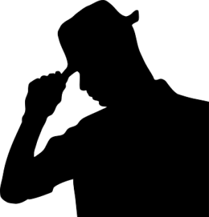 man_wearing_hat_silhouette